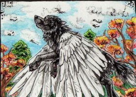 ACEO-ZulayaWolf by Cally-Dream