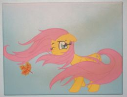 Fluttershy Blown Away by Dorigard