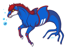 Kyogre-Horse by KazultheDragon