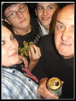 :Me,Carl,Con,Wag 1: by EmiValo666