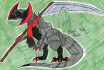 Olfim the Shiny Haxorus by FlygonPirate