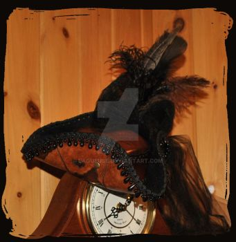 Pirate Mini leather Top Hat by Lagueuse
