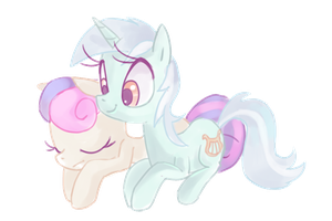 Lyra and BonBon by Kajitanii