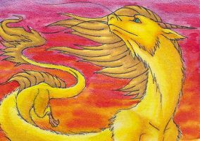 ACEO- Golden One by Sky-Shifter