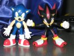 My Sonic and Shadow Figures by tanlisette