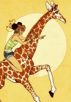 Junabelle and a Giraffe by elindor