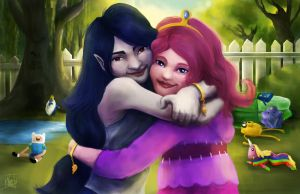 Marcy and Bonnie by nma-art