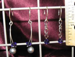 Purple earrings 2 and 3 by WireMySoul