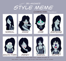 De-Anime'd meme: Marceline by LeaxoftheUnderworld