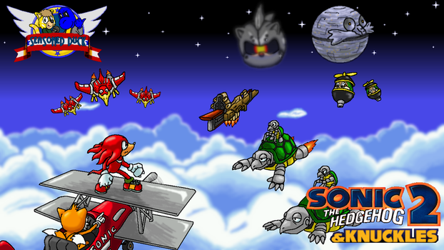 Sky Chase, Wing Fortress, and Death Egg Title Card by Squeaky-the-Zepa