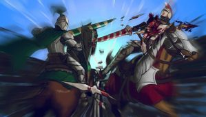 Knights Battle Commission by DiegoGV