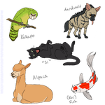 Five Animals completed by Tephra76