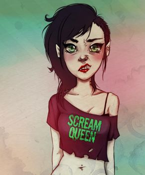 Scream Queen Marceline by KnockMeOut