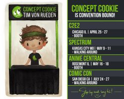 Concept Cookie is Convention Bound! by CGCookie