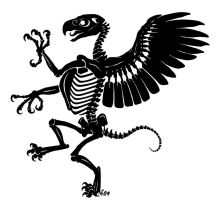 Rampant Gryphon Skeleton by lyosha