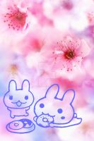 Cherry Blossom with bunnies by tinani81600