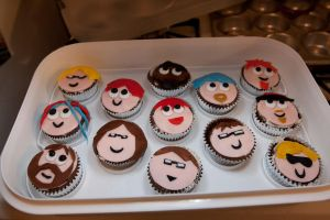 Hacker Cupcakes by pinguino