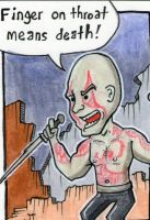Drax the Destroyer sketch card by johnnyism
