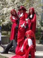 Sakura-Con 2012 Madame Red and Grells by GayMenDancing