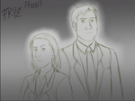 Agent Scully and Agent Mulder by x121887x