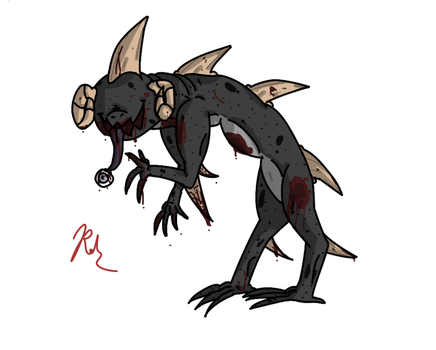 Alien.. abomination... thing? by BexTheArtist