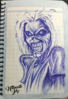 IRON MAIDEN EDDIE SKETCH by lettherebeart