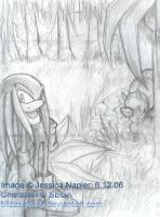 Knuckles at Angel Island by BlizzardWolf