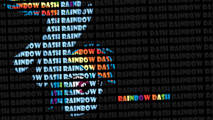 Rainbow Dash Typography Desktop by ProsaurusRex