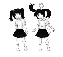 Monochromatic 5-handed Little Loli From a Desert by JHMKHL4D292