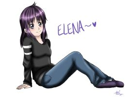 Elena laying back by shock777