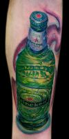 heineken bottle by tat2istcecil