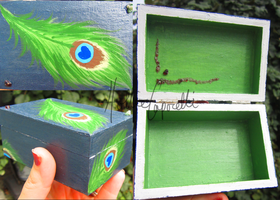 Peacock feather box by HollieBollie