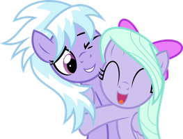 [P Commission] Cloudchaser and Flitter by HankOfficer