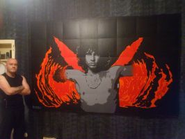 Jim Morrison Light my Fire The Doors Wall Mural by Hodgy-Uk