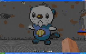 Oshawott On Minecraft by Miccopicco