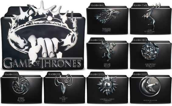 Game of Thrones Folders in PNG and ICO by vikkipoe24
