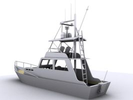 Boat in 3d max... by myth123123