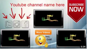 YouTube Outro by ElectricFreestyle