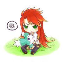 TotA : Chibi Luke and Mieu by Nacrym