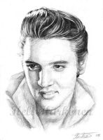 Elvis - 50's portrait by hellbull