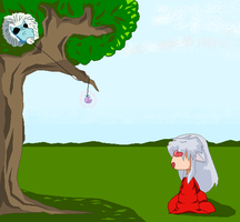 InuYasha falling into a trap by needs-a-bullet