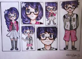 Sumire Futago~ (Original Characters) by Lykie-chan
