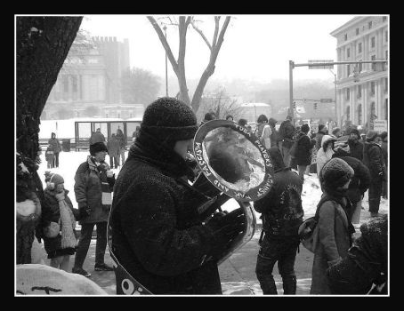 Pittsburgh Antiwar Rally 2 by friedzombiebrain