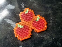 Applejack Hama Cutie Mark Pendants by Retr8bit