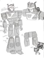 Blaster sketches by Ridel