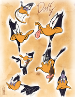 Daffy Physiognomy Study by dogatemyshrooms