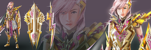 Lightning Returns FFXIII Contest Golden Lightning by elangkarosingo