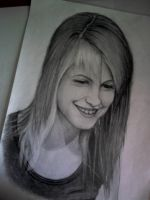 Hayley Williams pencil drawing by Hay182