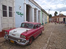 Old Chevy in Trinidad streets by overmoder