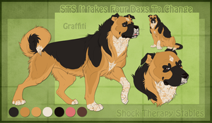 STS Dog - Graffiti by ShockTherapyStables